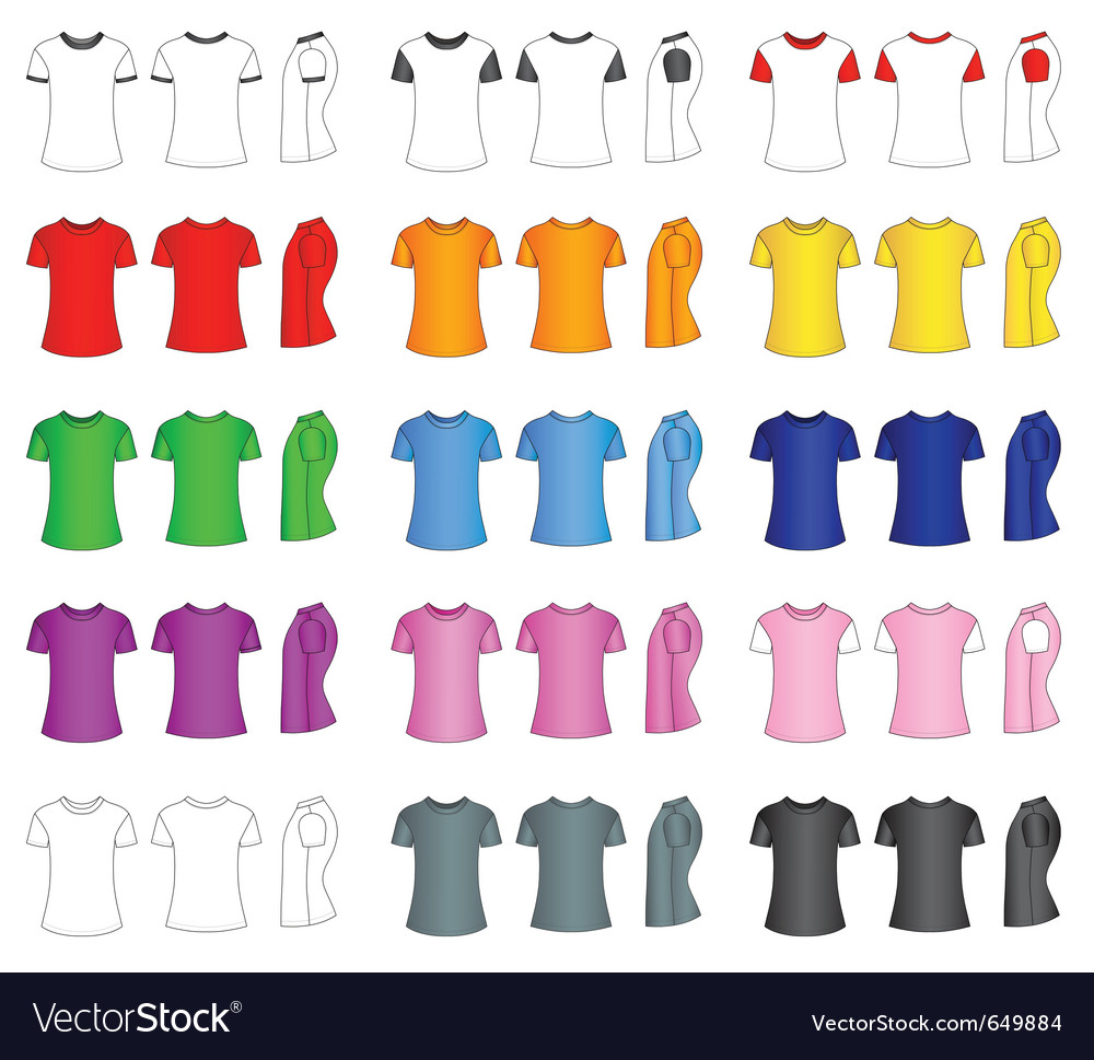 Tshirt set vector