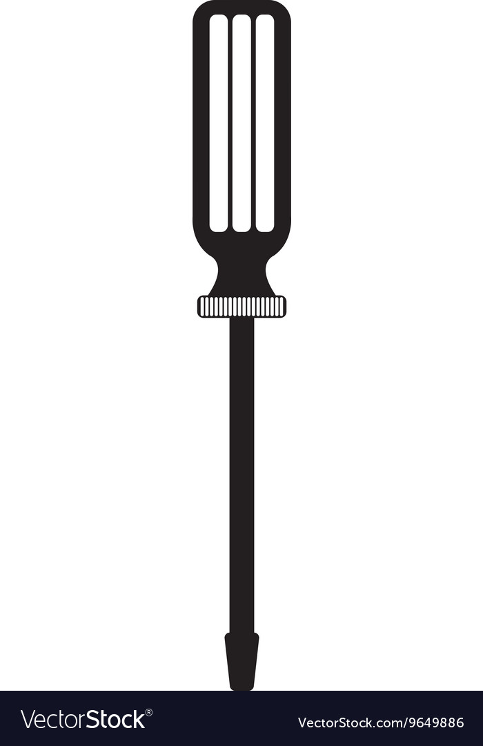 Black screwdriver tool graphic vector