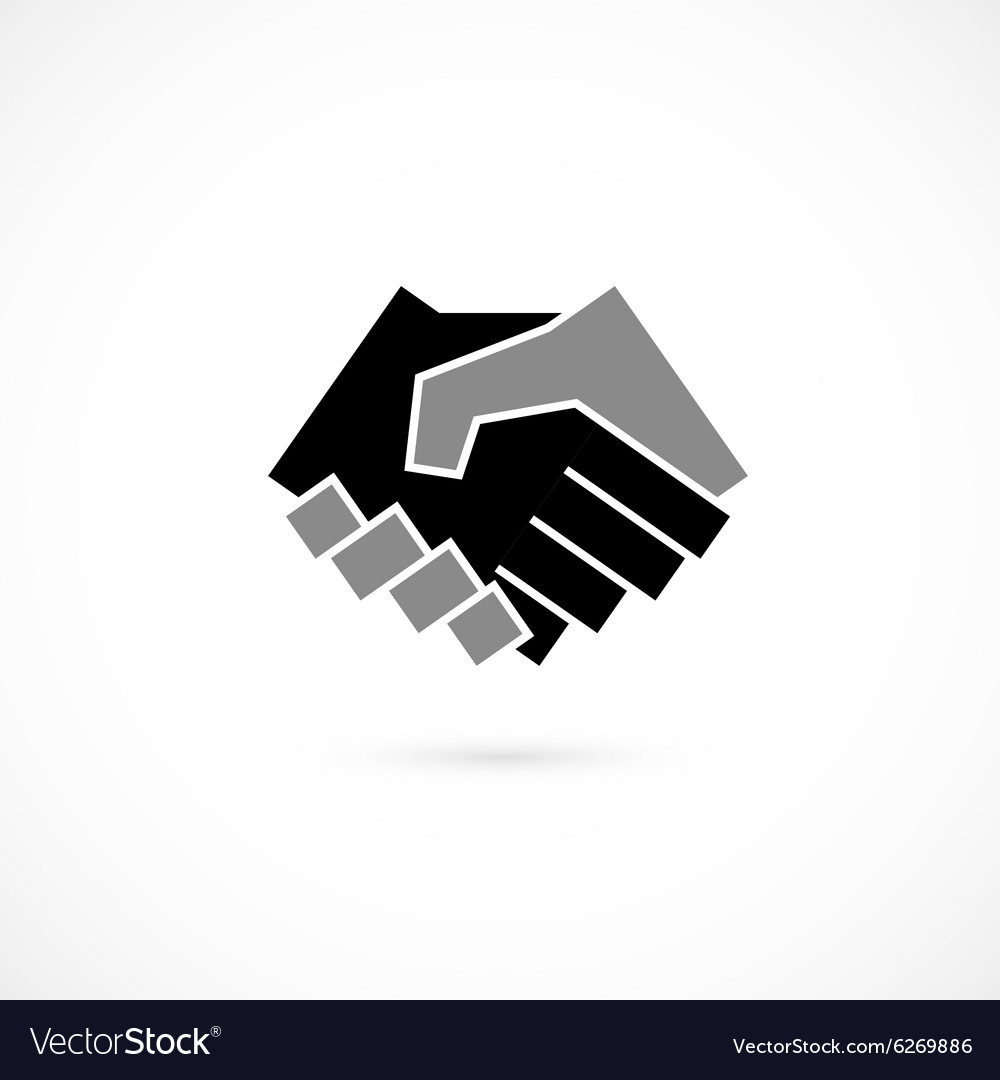 Handshake abstract logo design template vector