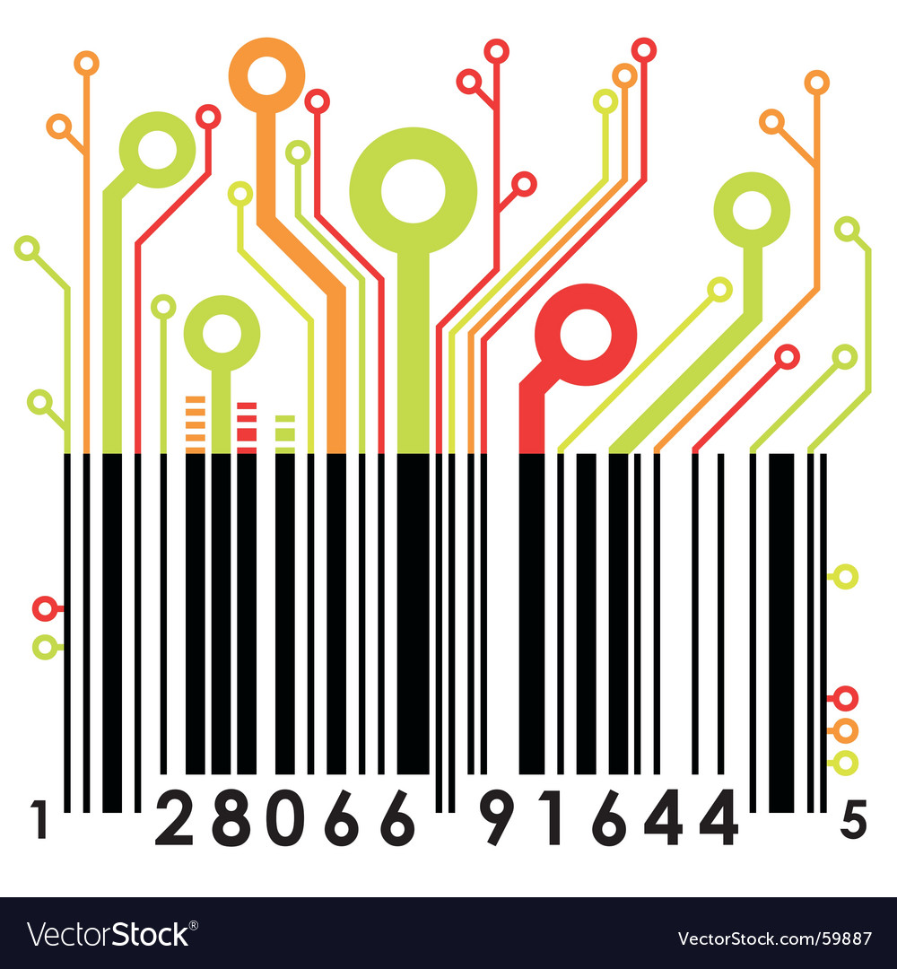 Abstract barcode vector