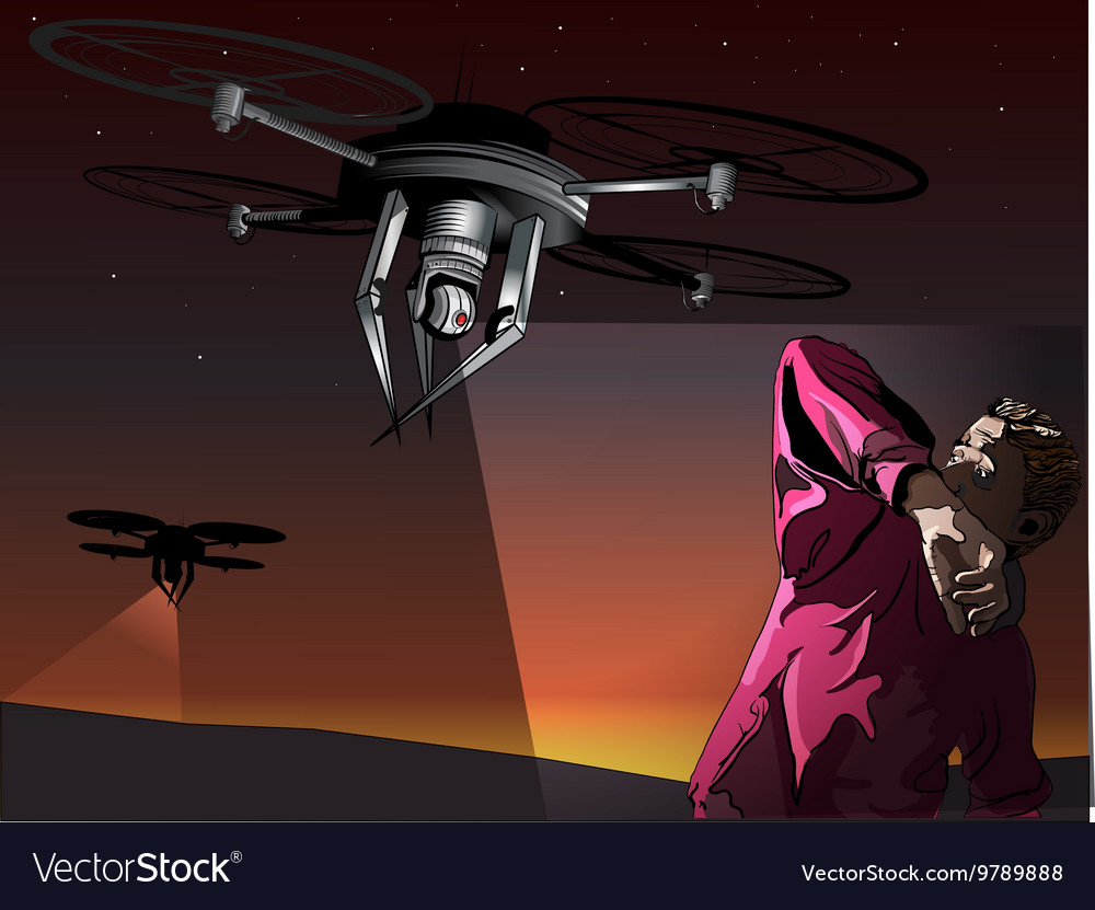 Attack of the drones vector