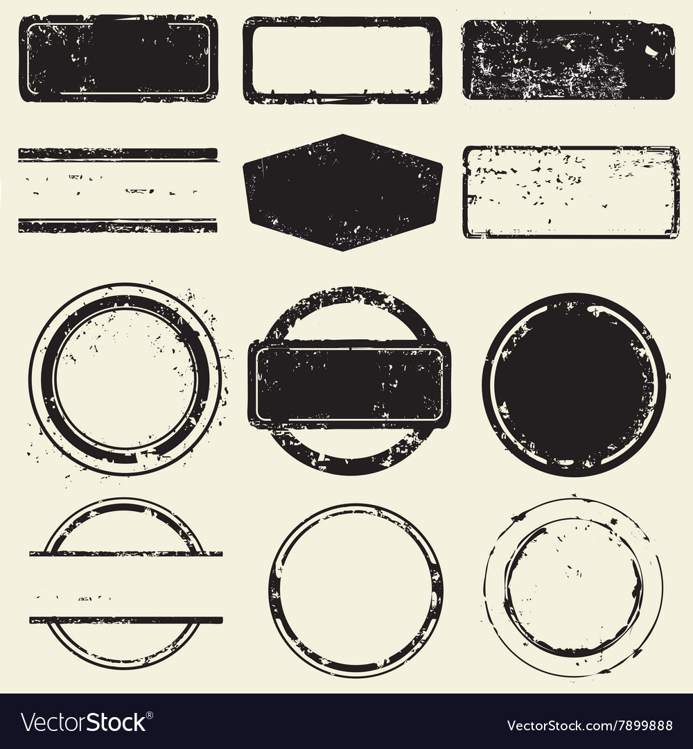 Collection of stamps frames vector