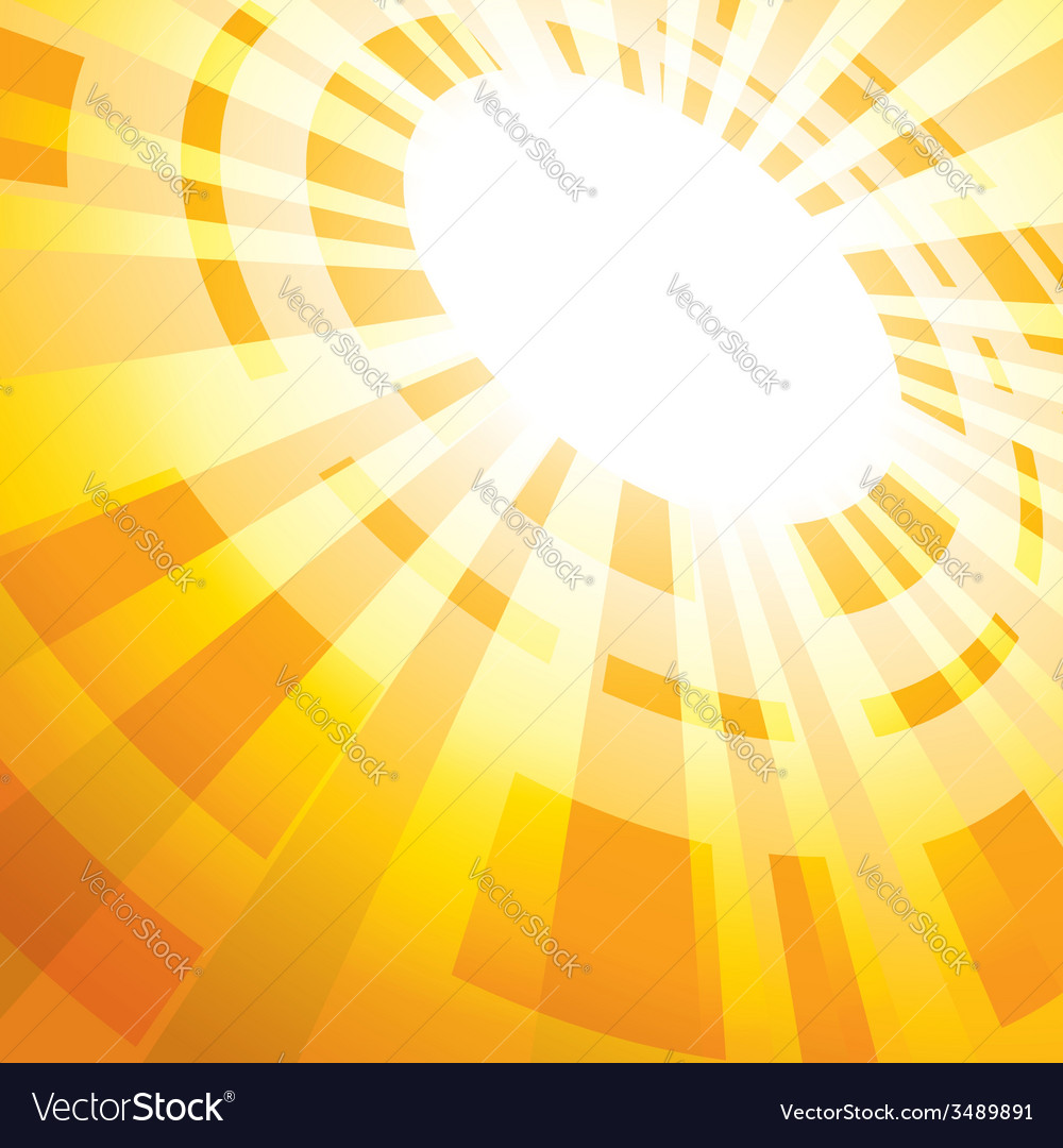 Yellow abstract background with flash vector
