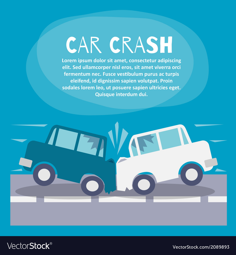 Car crash poster vector