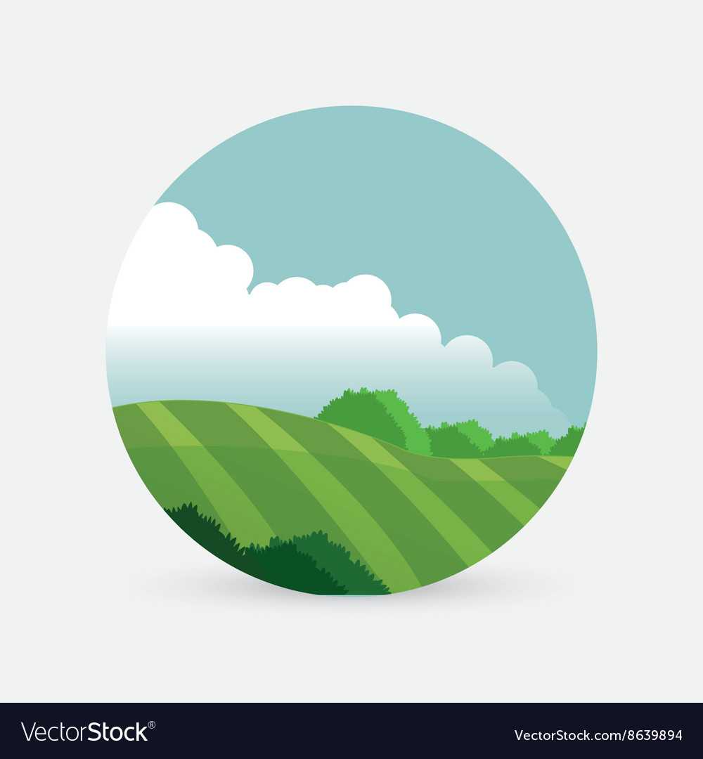 Farm design landscape icon nature concept vector