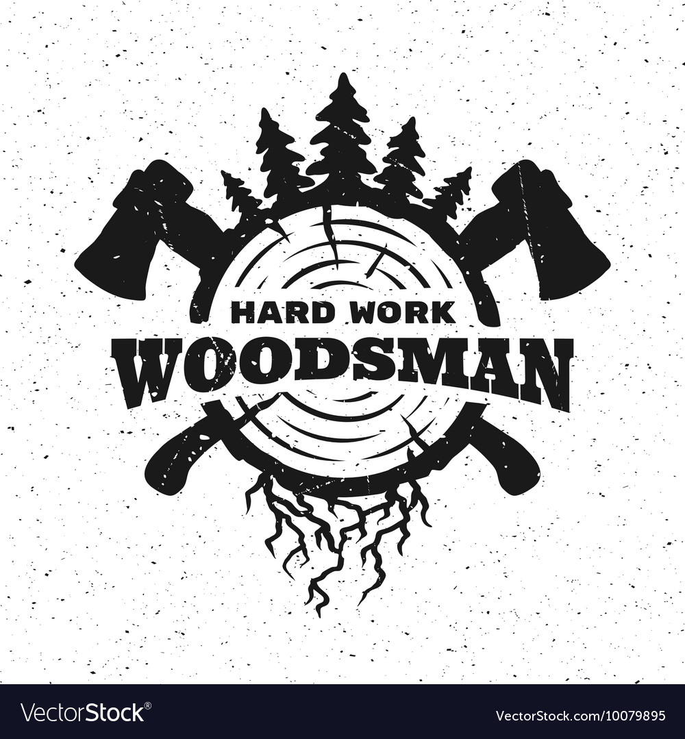 Lumberjack hard work vector