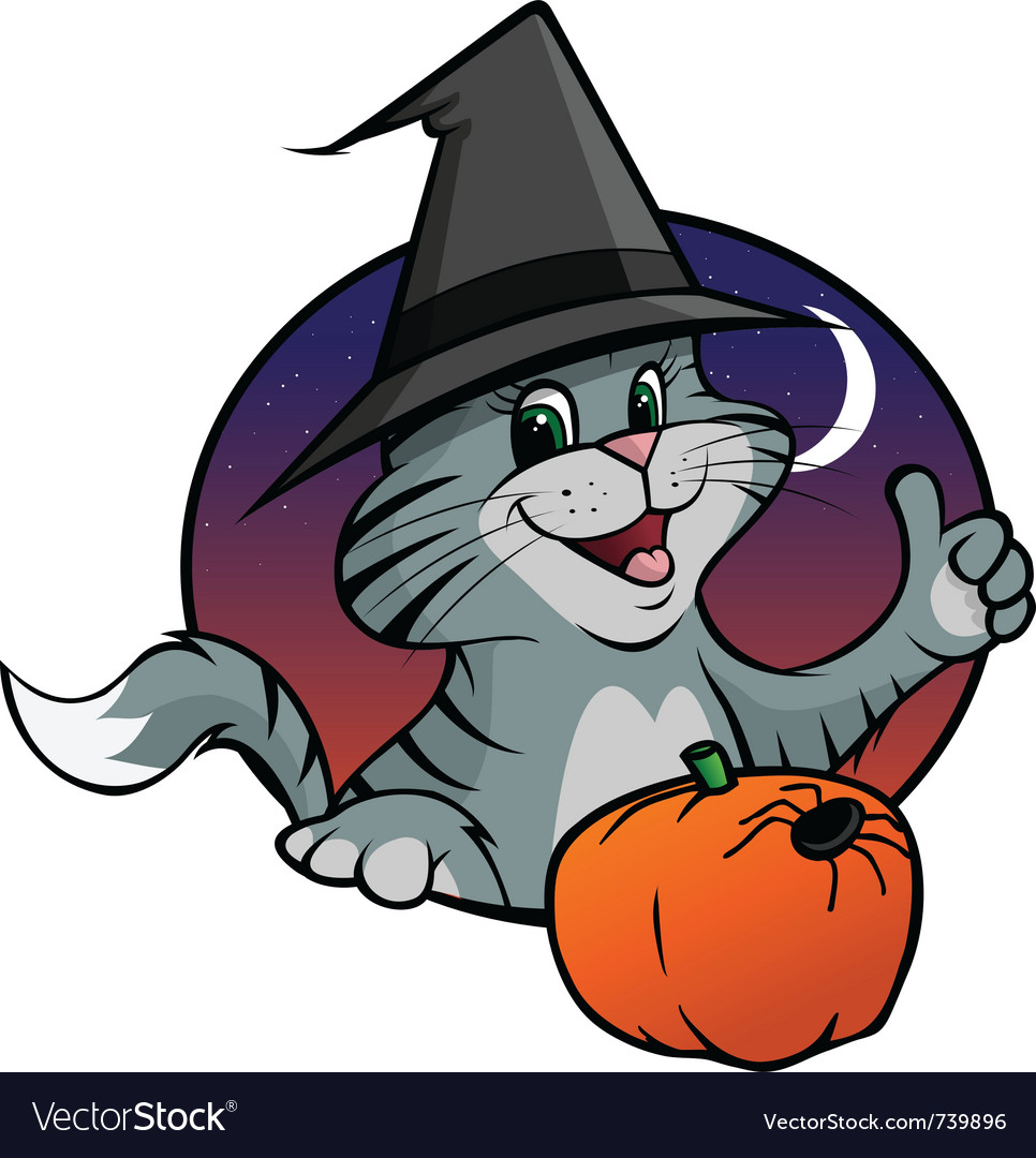 Kitten halloween vector