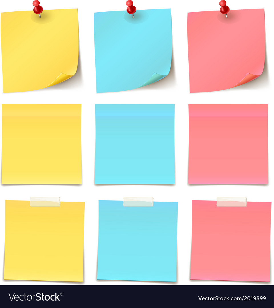 Beautypostitnotecollection vector