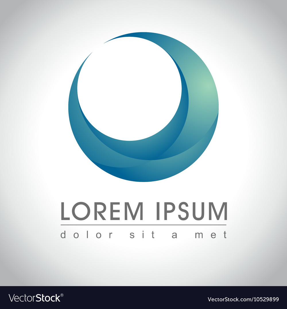 Blue round logo vector
