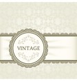 Vintage background ornamental round frame vector image vector image