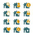 House security and service icons vector