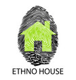 ethno house -fingerprint vector image