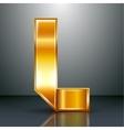 Letter metal gold ribbon - L vector image vector image