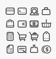 Different shopping icons set vector image