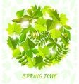 round spring background from leaves vector image vector image
