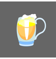 beer in glass mug vector image