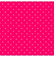 Tile pattern with small white polka dots on pink vector image vector image