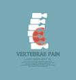 Vertebrae Pain Illness Concept vector image
