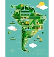 Cartoon map of South America vector image