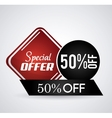 Discount and offer design vector image