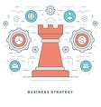 Flat line Business Strategic Management vector image