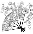 Oriental fan zentagle vector image