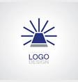 alarm lamp logo vector image