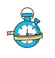 chronometer with meter to practice exercise vector image