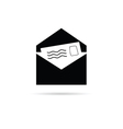 letter icon with paper icon vector image