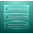 Set of glossy banners with shiny lights vector image