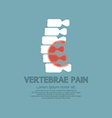 Vertebrae Pain Illness Concept vector image