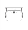 Classic royal table with ornaments vector image