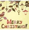 Scrap-booking Christmas card vector image vector image