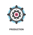 production icon concept vector image
