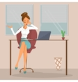 Business woman at workplace vector image
