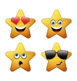 Characters of yellow star emoticon vector image