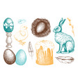happy easter day design elements vector image