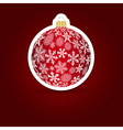 Christmas background Sticker ball vector image vector image