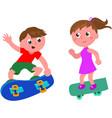 Cartoon skateboarders isolated vector image