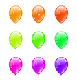 Set colorful balloons isolated on white background vector image vector image
