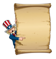 Uncle Sam Pointing at Declaration vector image