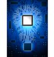 Computer Lightbulb vector image