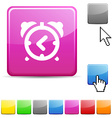 alarm-clock glossy button vector image