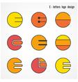 Creative E letters icon abstract logo design vector image