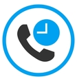 Phone Time Flat Rounded Icon vector image