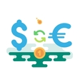 Dollar Euro Currency Exchange vector image