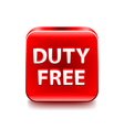 Duty free icon isolated on white vector image