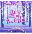 Joy to the world on winter background vector image