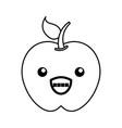 kawaii apple cartoon vector image
