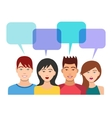 People Icons with Dialogue Bubbles vector image
